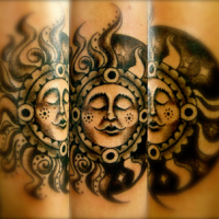 Sun Ray Arm Tattoo
