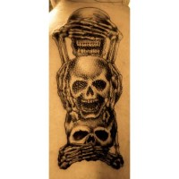 Skull Design Back Tattoo