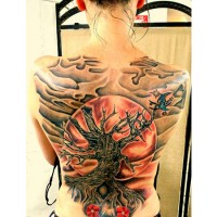 Amazing Back Tattoo Design