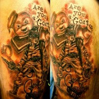 Are You God Arm Tattoo