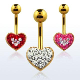 Heart Shaped Navel Rings