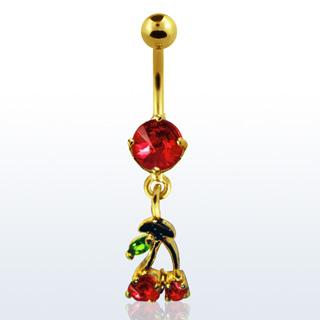 Cherry Design Navel Rings