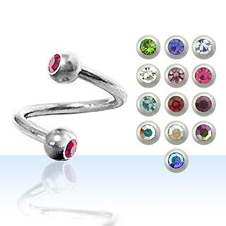 Color Twist Navel Rings