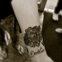 Flower Design Wrist Tattoo
