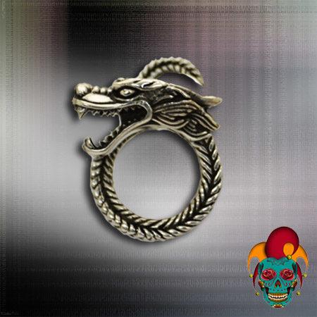 Dragon Twist Silver Ring
