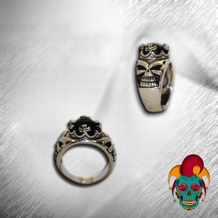 Mystery Skull Silver Ring