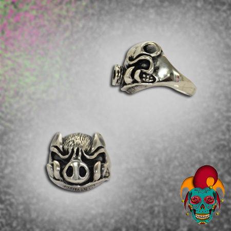 Evil Pig Silver Ring