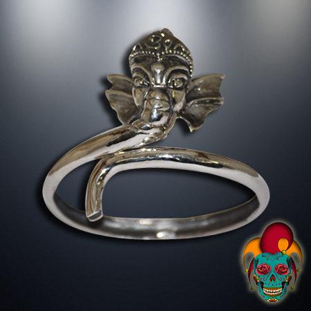 Thai Elephant Silver Bangle