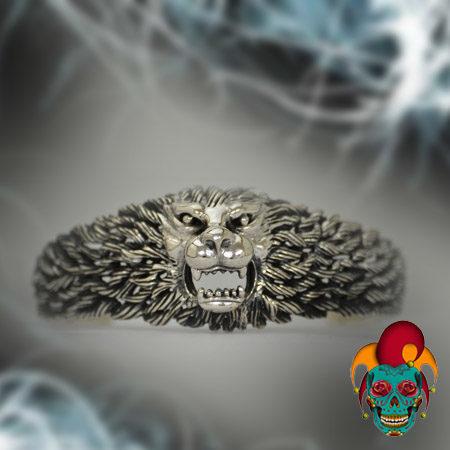 Monster Centered Silver Bangle