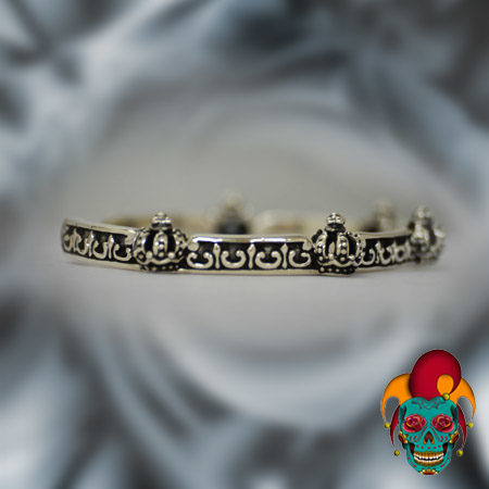 Little Crowns Silver Bangle