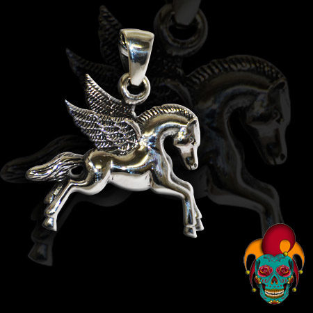 Flying Horse Silver Pendant