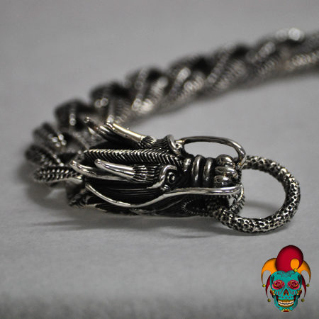 Thick Dragon Silver Bracelet