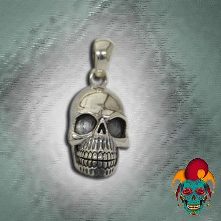 Empty Eyes Skull Silver Pendant