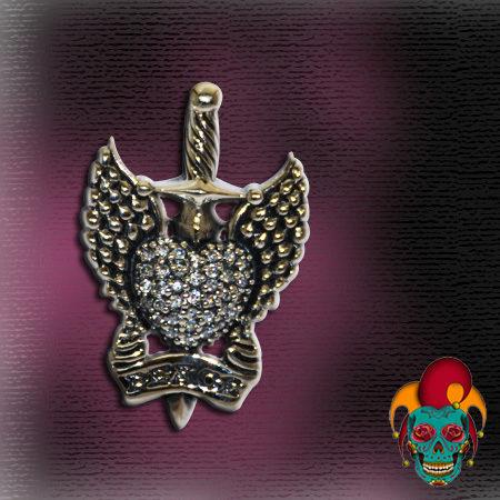 Heart Breaker Silver Pendant