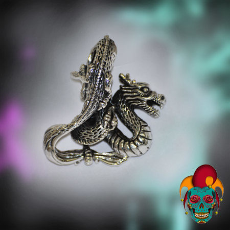 Flying Dragon Silver Pendant