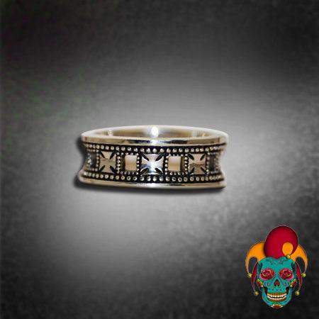 Cross Pattern Silver Ring