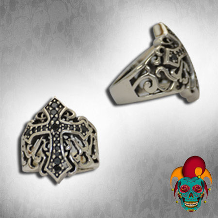 Cross Design Silver Ring