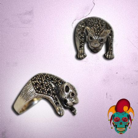 Leopard Body Silver Ring