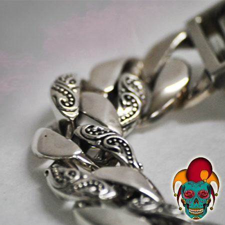 Thick Chain Silver Bracelet