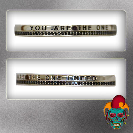 Quotes Silver Bangle
