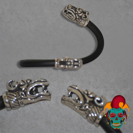Dragon Edged Silver Bracelet