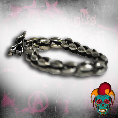 Multiple Thick Chain Silver Bracelet