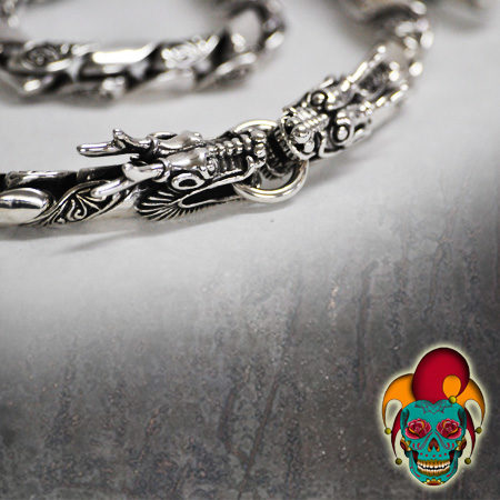 Dragon Twist Silver Bracelet