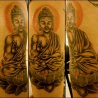 Buddha Themed Tattoo