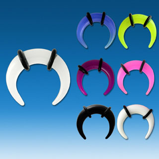 Semi Circle Colorful Ear Gauges