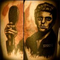 Man Portrait Arm Tattoo