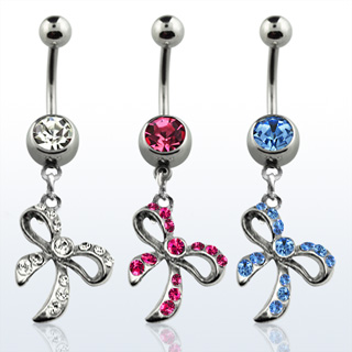 Dangling Ribbon Navel Rings