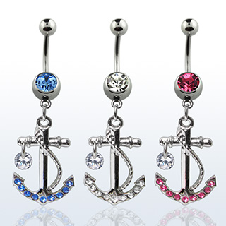 Glam Anchor Navel Rings