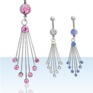 Falling Dots Navel Rings