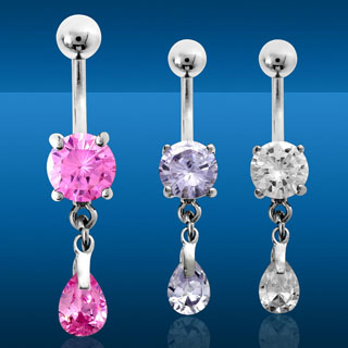 Double Stone Navel Rings