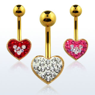 Heart Shaped Navel Rings