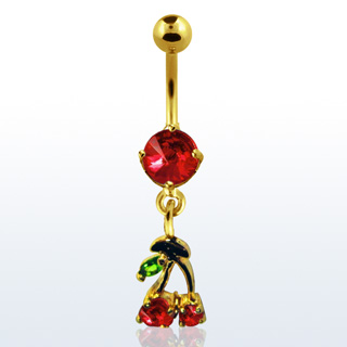 Cherry Design Navel Rings