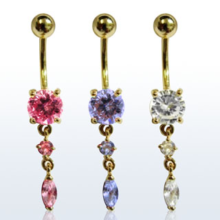 Dangling Pieces Navel Rings