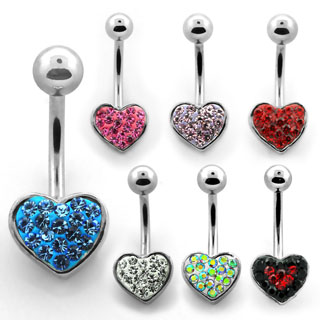 Glam Heart Navel Rings
