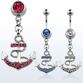 Dangling Anchor Navel Rings