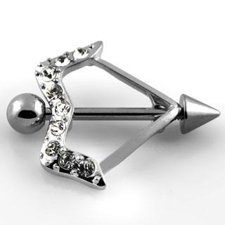 Glamorous Bow and Arrow Nipple Rings