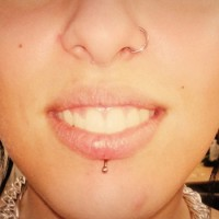 Nose and Lip Piercing
