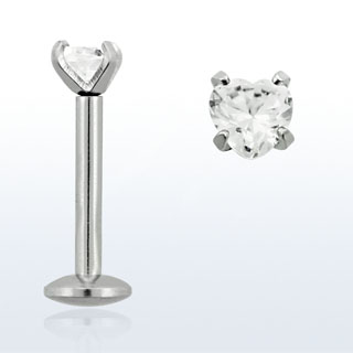 White Heart Lip Rings