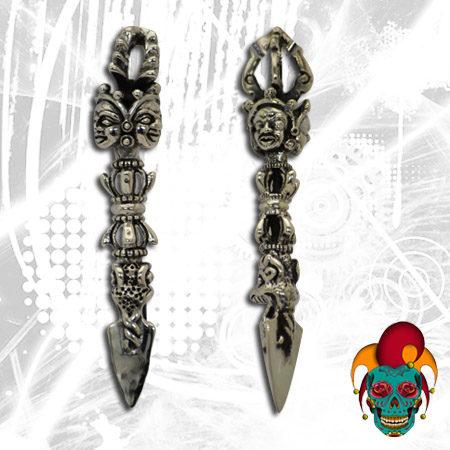 Dangling Cultural Silver Earrings