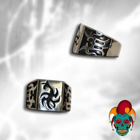 Chinese Symbol Silver Ring