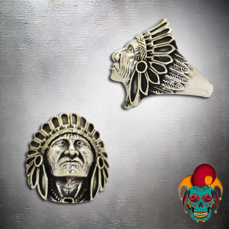 Proud Chief Silver Ring