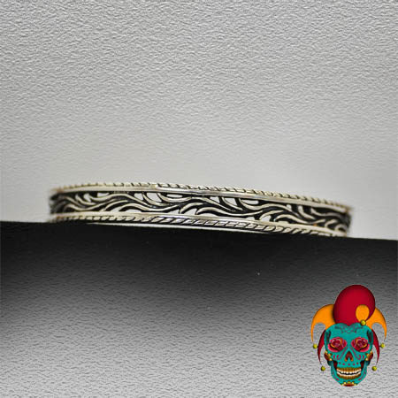 Thin Layered Silver Bangle