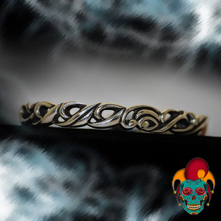 Coordinated Turns Silver Bangle