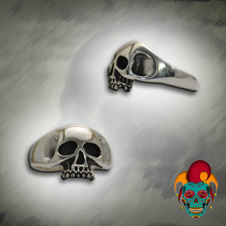 Jaw Free Silver Skull Ring