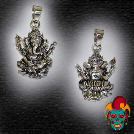 Thai Elephant Silver Pendant