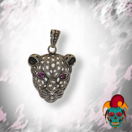 See Through Silver Leopard Pendant